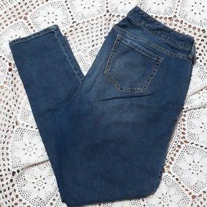 Torrid distressed mid rise stretch skinny jeans
